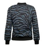 Q1905 Dames Q Reversible Jacket Melbourne W - Print BG/China Blue + Sulphur