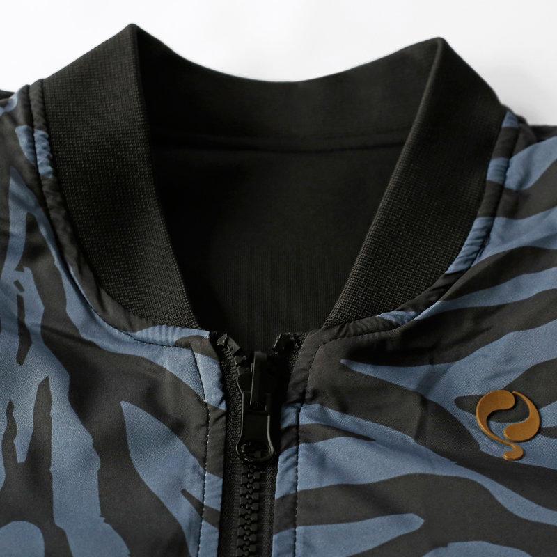 Q1905 Women's Q Reversible Jacket Melbourne W - BG + Print BG/China Blue + Black