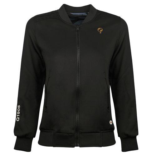 Women's Q Reversible Jacket Melbourne W - BG + Print BG/China Blue + Black