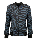 Q1905 Dames Q Reversible Jacket Melbourne W - BG + Print BG/China Blue + Black