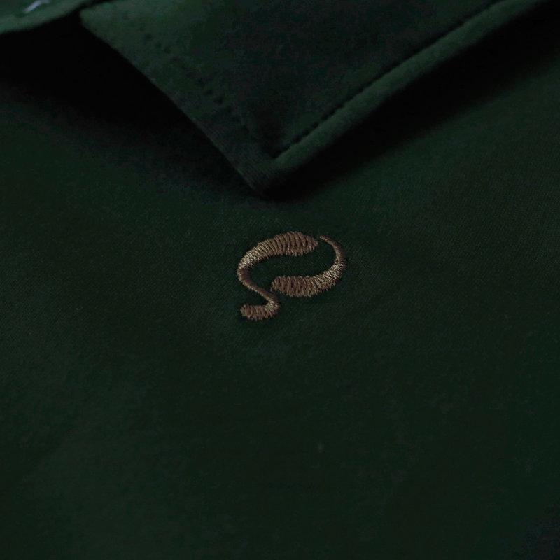 Q1905 Men's Q polo Antwerpen  -   Pine Grove/Evergreen