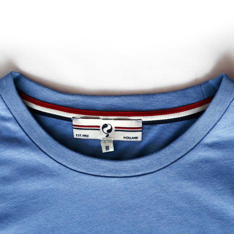 Q1905 Heren T-shirt Katwijk - Licht Denimblauw