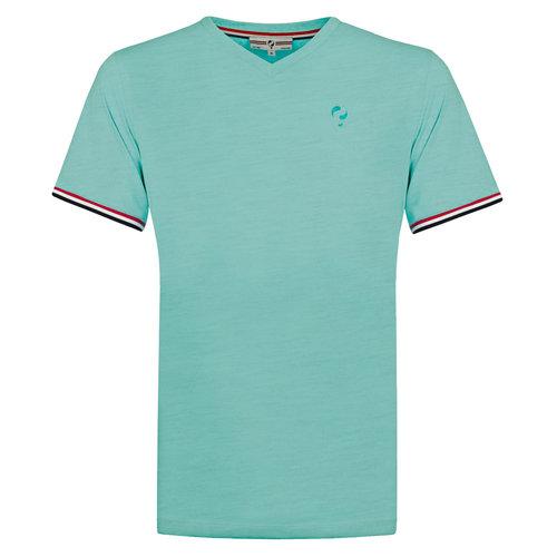 Heren T-shirt Rockanje - Aqua
