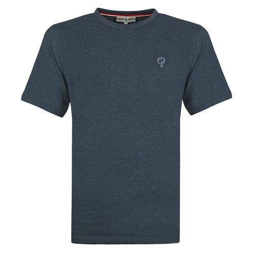 Heren T-shirt Bergen - Donker Denimblauw