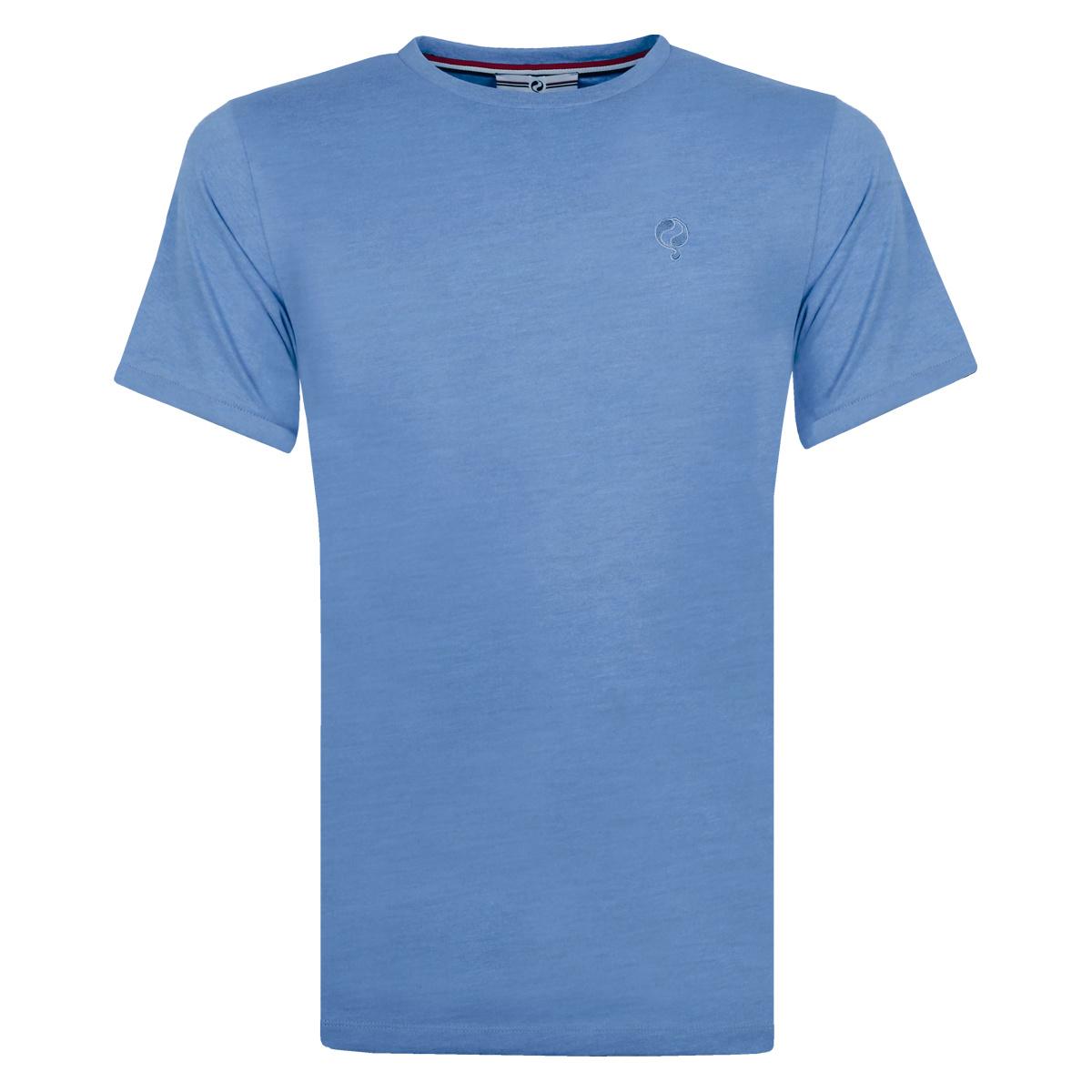 Heren T shirt Bergen Licht Denimblauw