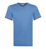Q1905 Heren T-shirt Rockanje - Licht Denimblauw