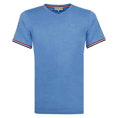 Heren T-shirt Rockanje - Licht Denimblauw