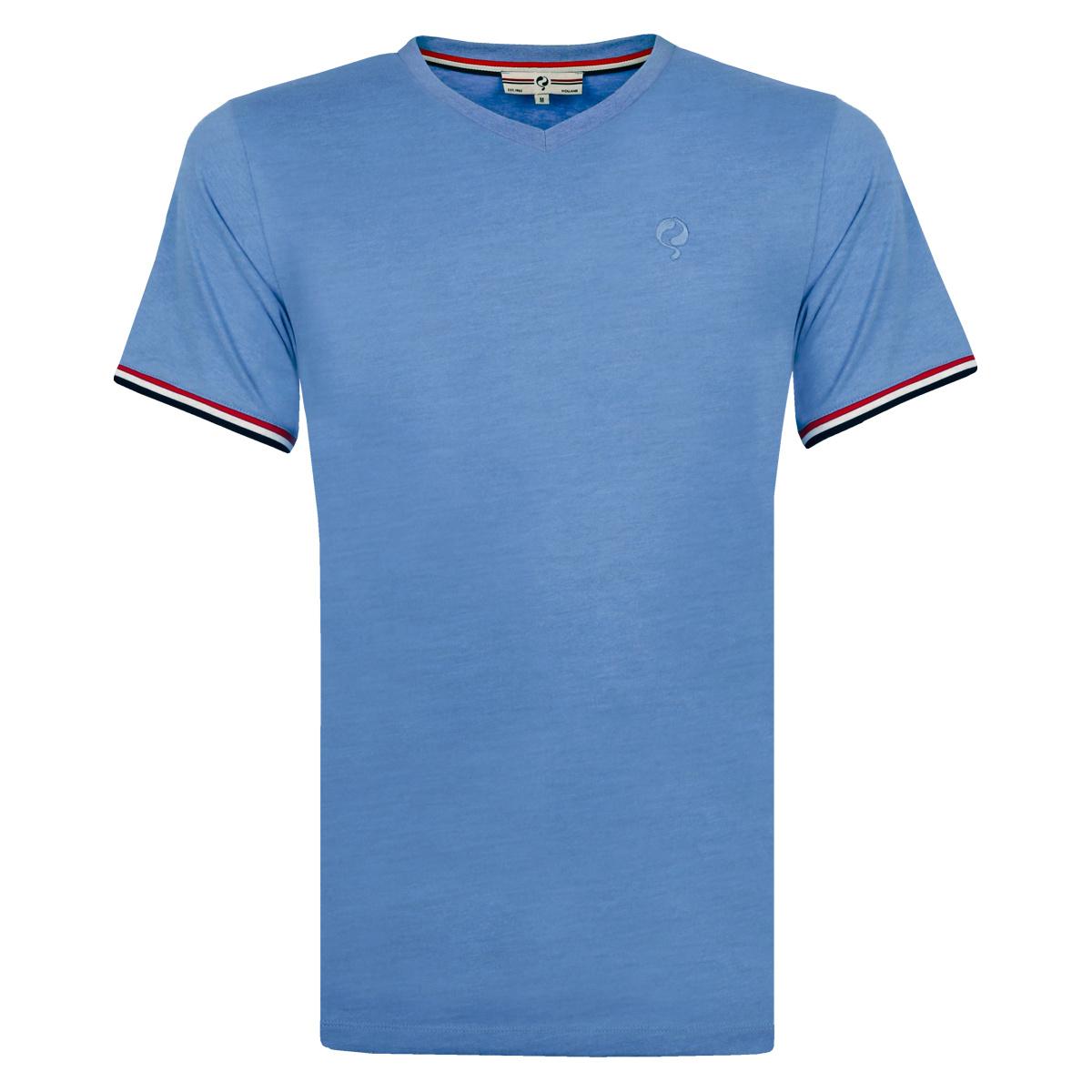 Heren T shirt Rockanje Licht Denimblauw