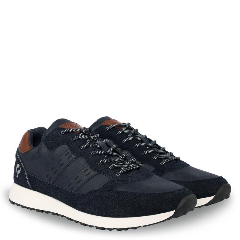 Q1905 Heren Sneaker Voorschoten - Donkerblauw