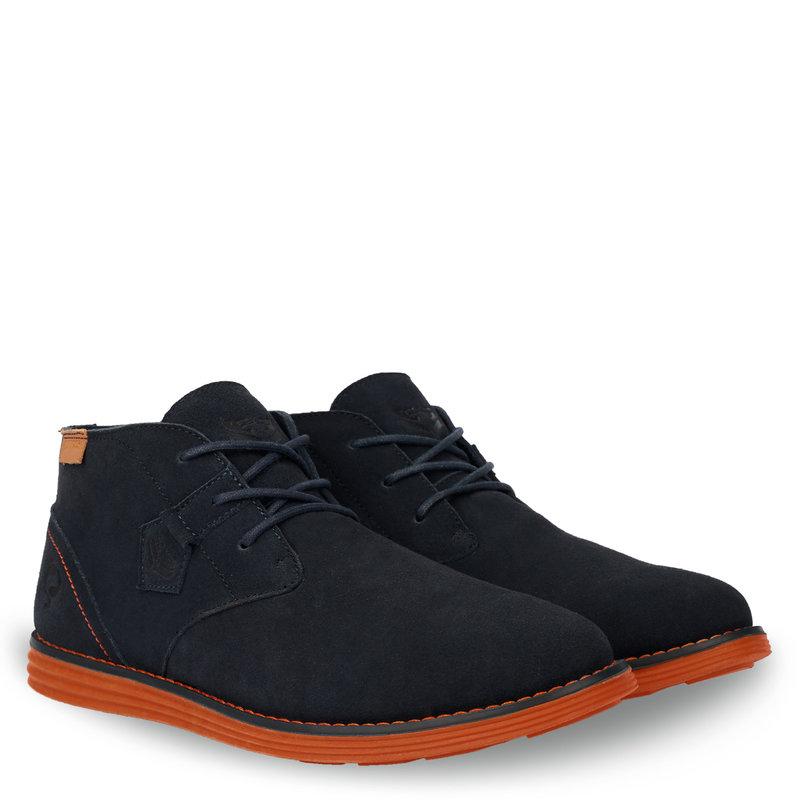 Q1905 Heren Schoen Hillegersberg - Donkerblauw/Oranje