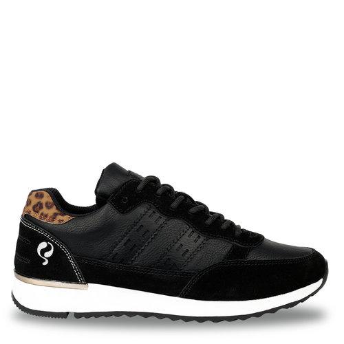 Dames Sneaker Voorschoten - Zwart/Leopard