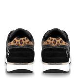 Q1905 Dames Schoen Voorschoten - Zwart/Leopard