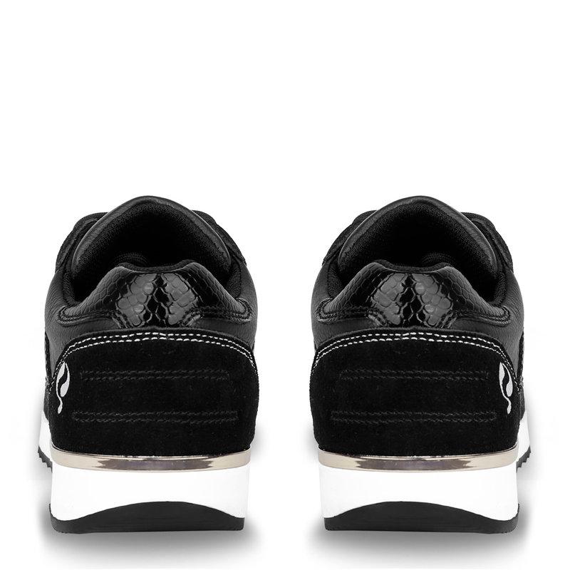 Q1905 Dames Sneaker Voorschoten - Zwart
