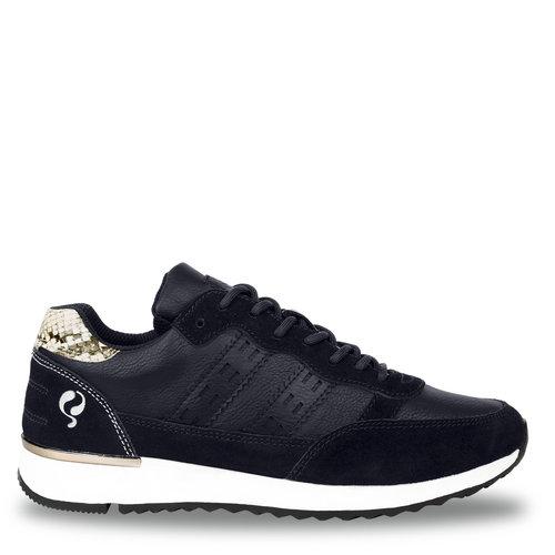 Dames Sneaker Voorschoten - Donkerblauw/Snake