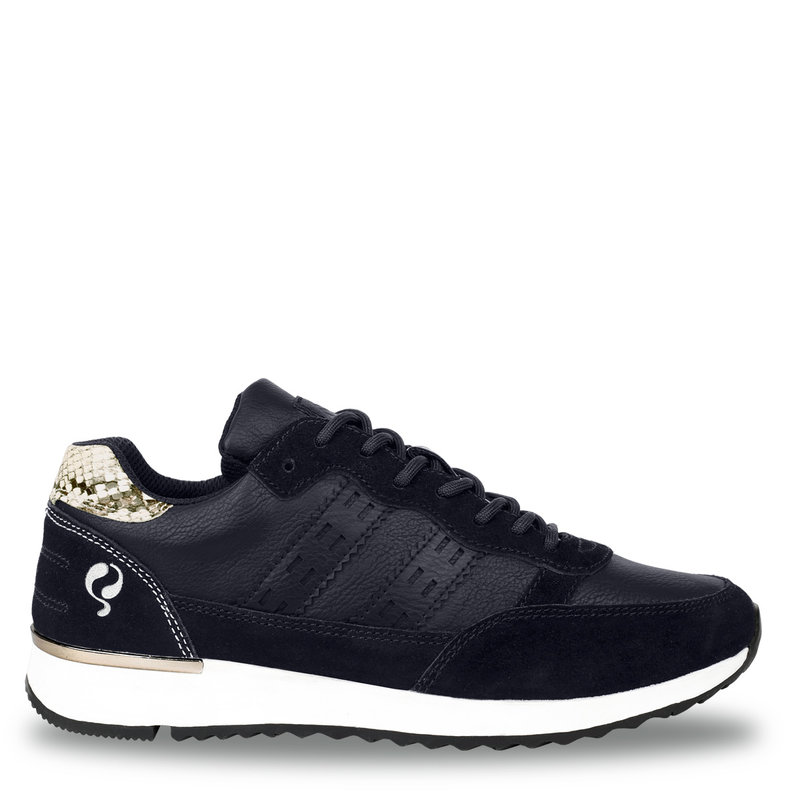 Q1905 Women's Shoe Voorschoten - Dark blue/Snake