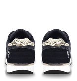 Q1905 Dames Sneaker Voorschoten - Donkerblauw/Snake