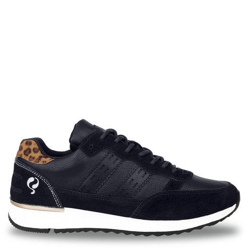 Dames Sneaker Voorschoten - Donkerblauw/Leopard