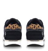 Q1905 Dames Schoen Voorschoten - Donkerblauw/Leopard