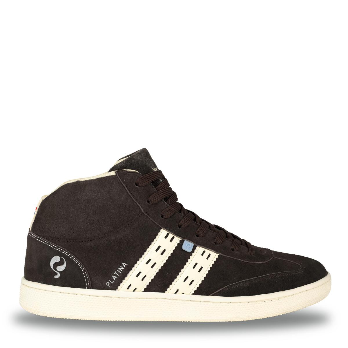 Heren Sneaker Platina - Donkerbruin/Crème