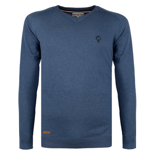 Men's Pullover Heemskerk - Denim blue