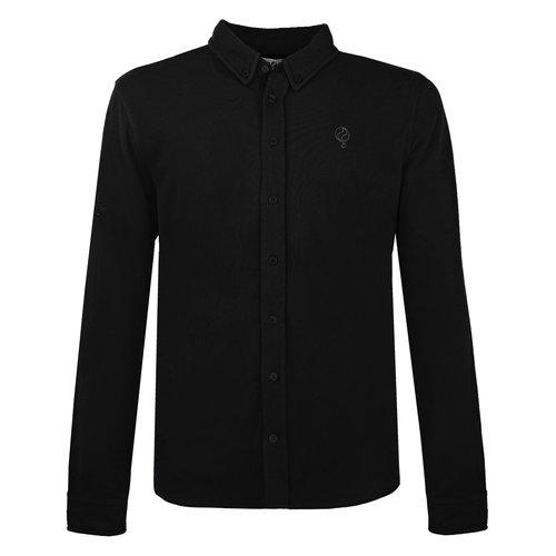 Heren Pique Overhemd Bunschoten - Zwart