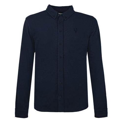 Heren Pique Overhemd Bunschoten - Donkerblauw