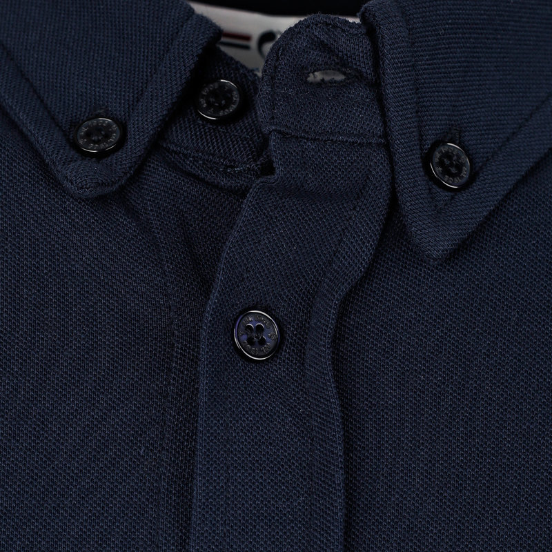 Q1905 Heren Polo Blouse Bunschoten - Donkerblauw