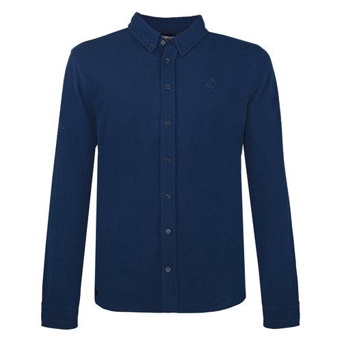 Heren Pique Overhemd Bunschoten - Marine Blauw
