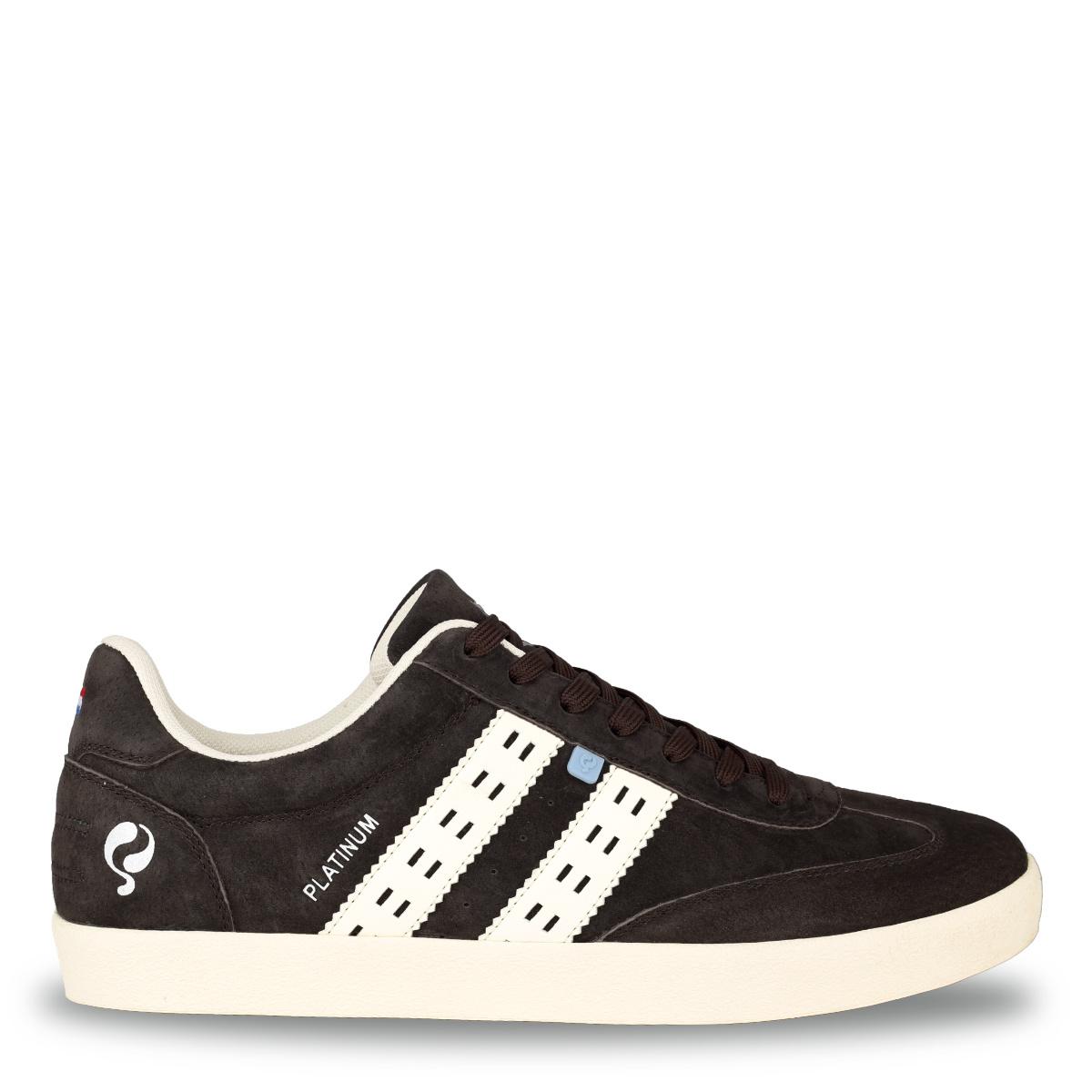 Heren Sneaker Platinum - Donkerbruin/Crème