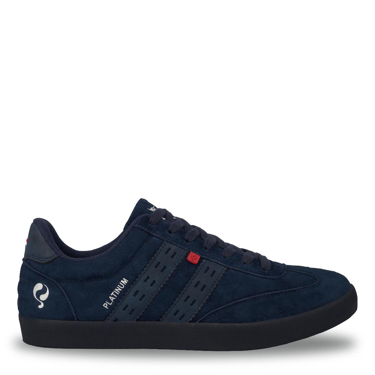 Heren Sneaker Platinum - Marine Blauw