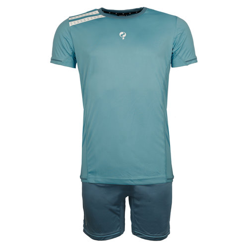 Men's Trainingsset Vloet Light Blue / White