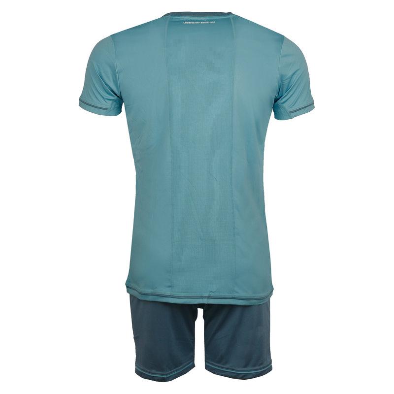 Q1905 Heren Trainingsset Vloet Lichtblauw / Wit