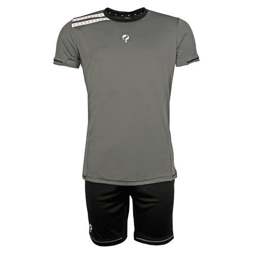 Men's Trainingsset Vloet Grey / Black / White