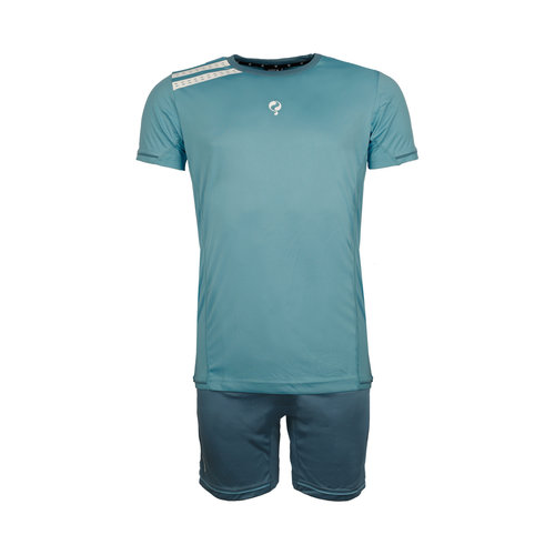 Kids Trainingsset Vloet Light Blue / White