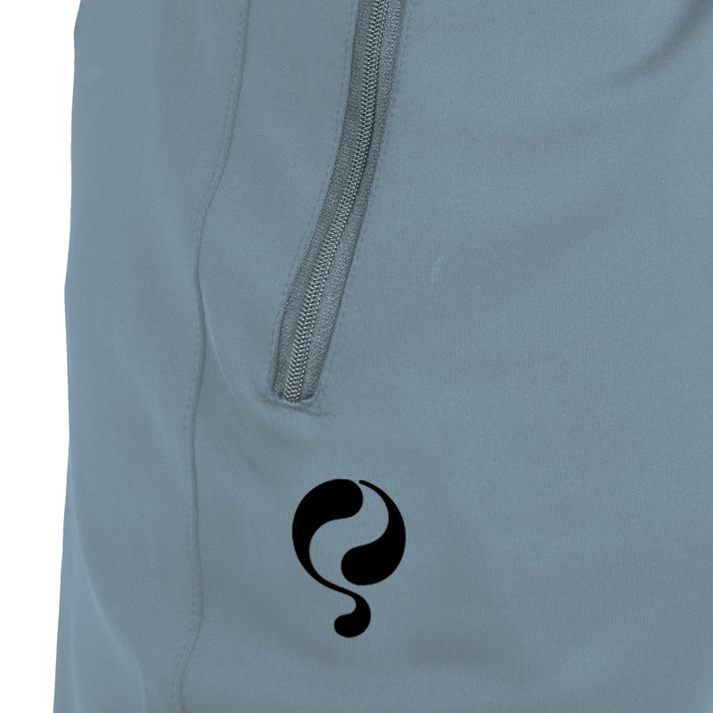 Q1905 Heren Trainingsbroek Delmee - Lichtblauw/Zwart