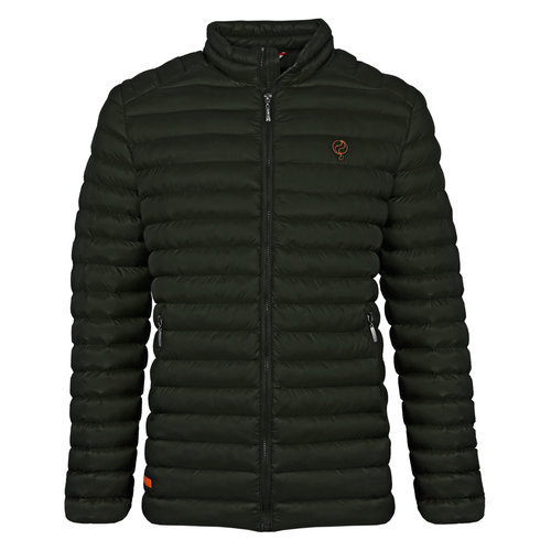 Men's Jacket Ravestein - Dark Green/Orange