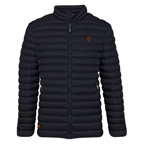 Men's Jacket Ravestein - Dark Blue/Orange