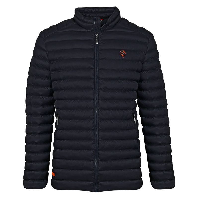 Q1905 Heren Jas Ravestein - Donkerblauw/Oranje