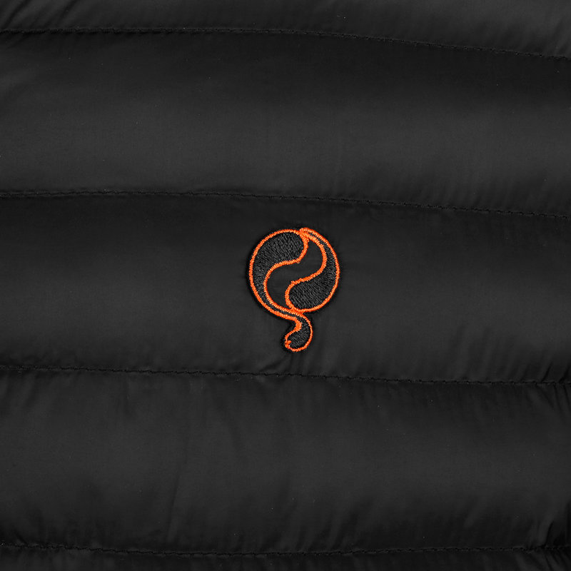 Q1905 Heren Jas Ravestein - Zwart/Oranje