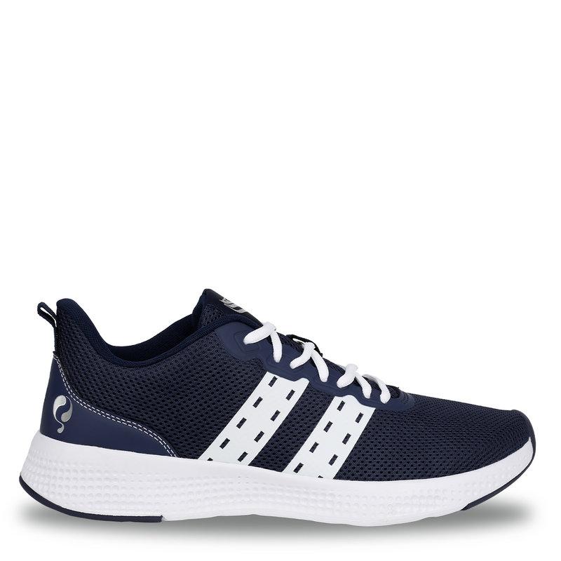 Q1905 Heren Sneaker Oostduin - Donkerblauw/Wit/Wit