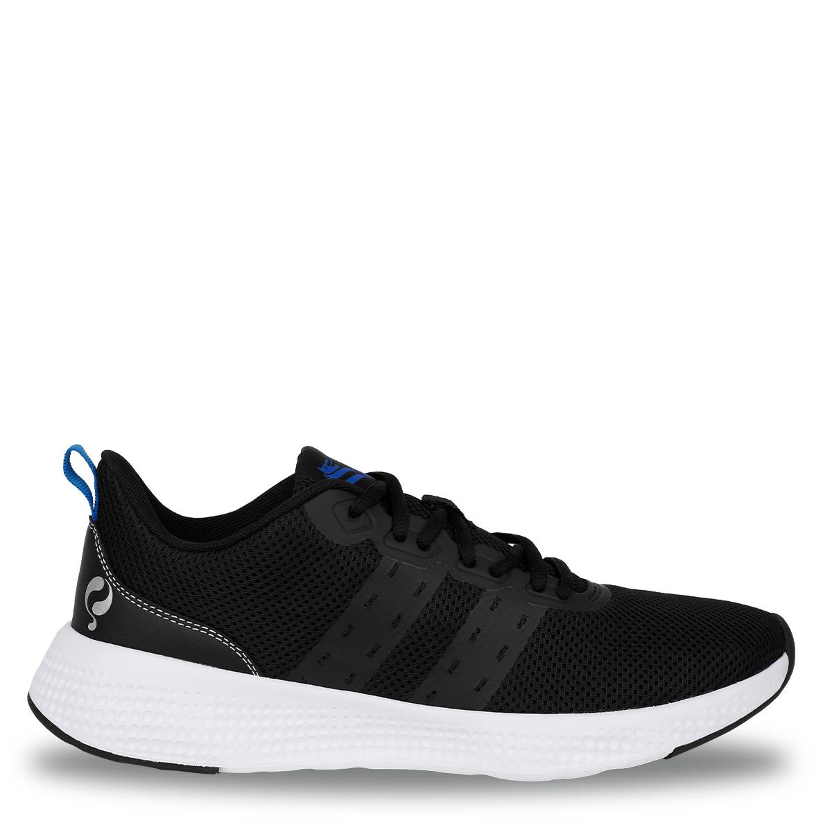 Heren Sneaker Oostduin - Zwart/Wit/Koningsblauw