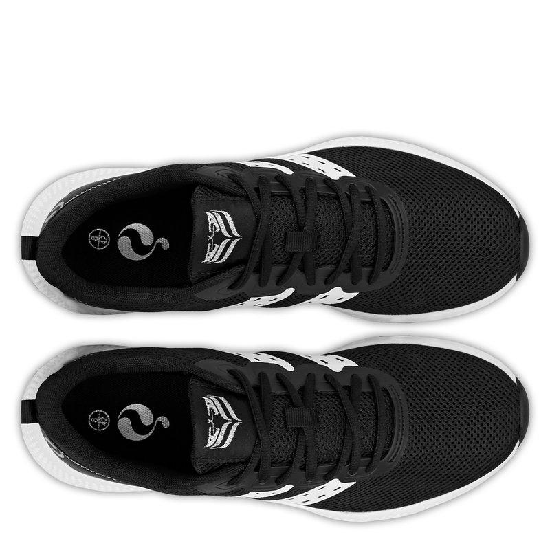 Q1905 Heren Sneaker Oostduin - Zwart/Wit/Wit