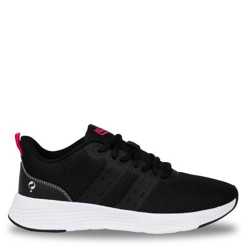 Women's Sneaker Oostduin - Black/Neon Pink
