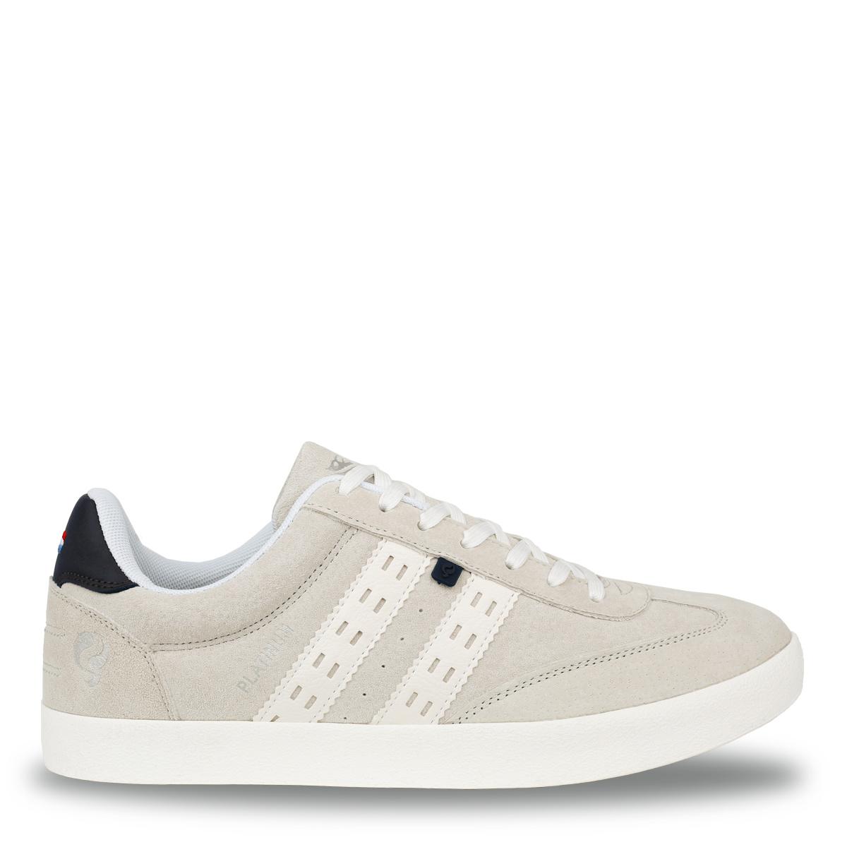 Heren Sneaker Platinum - Witgrijs/Donkerblauw