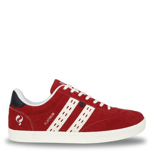 Heren Sneaker Platinum - Rood/Wit