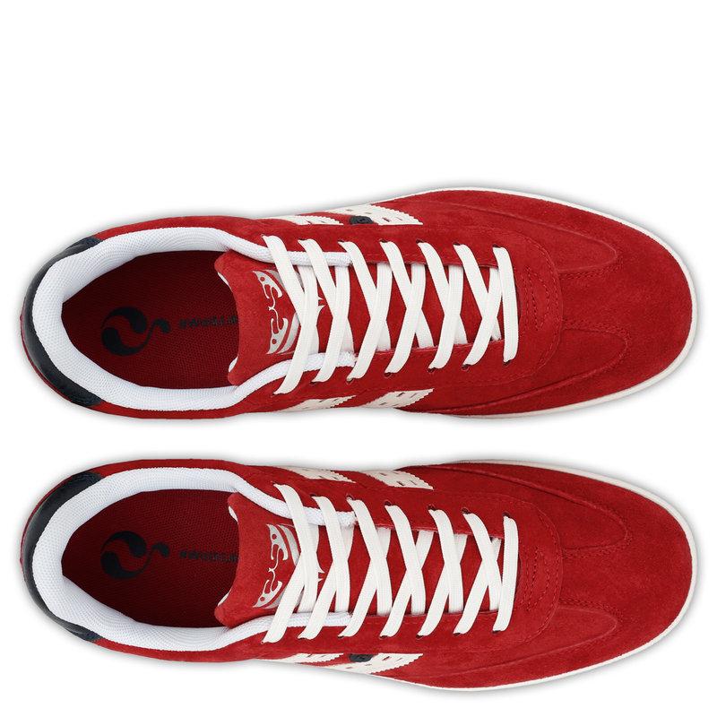Q1905 Men's Sneaker Platinum - Red/White