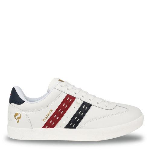 Heren Sneaker Platinum - Wit/Rood-Blauw