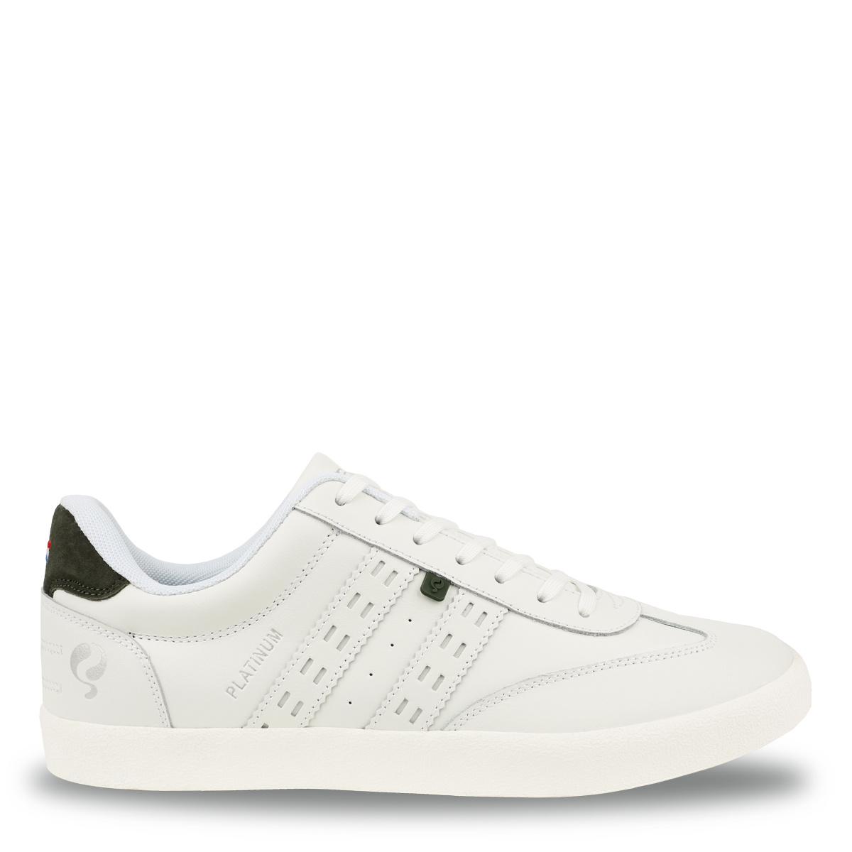 Heren Sneaker Platinum - Wit/Donkergroen