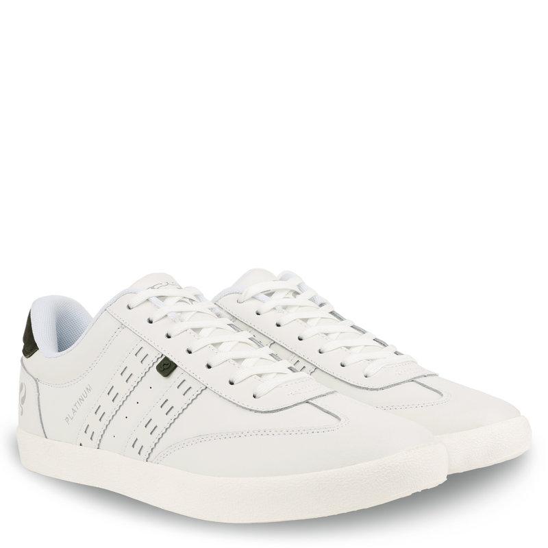 Q1905 Heren Sneaker Platinum - Wit/Donkergroen