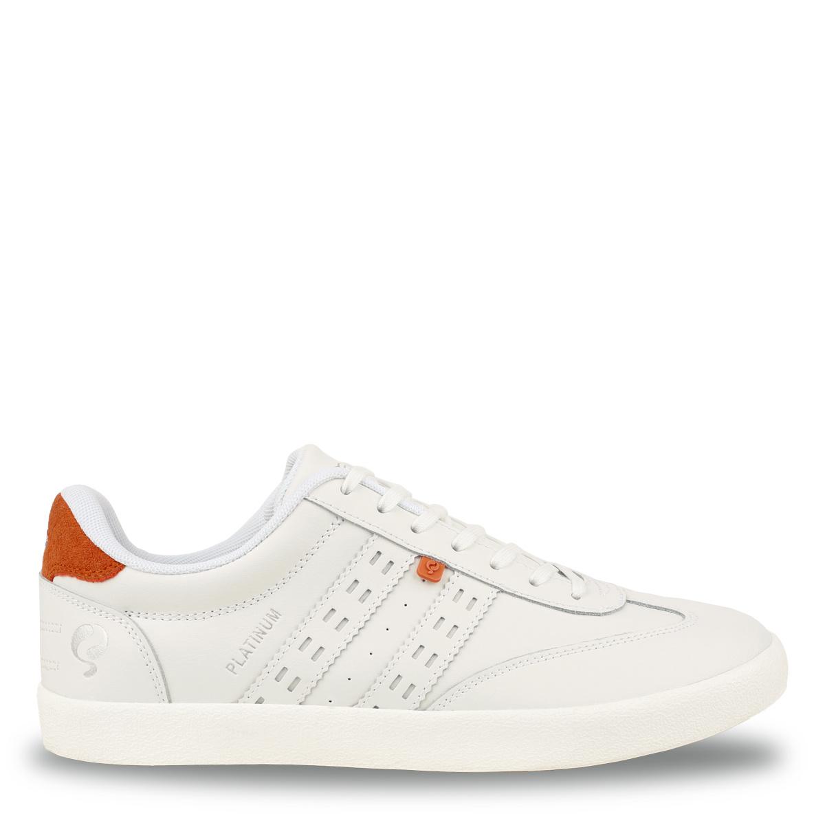 Heren Sneaker Platinum - Wit/Oranje